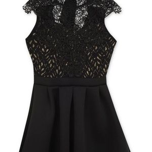 Lace Fit & Flare Party Dress